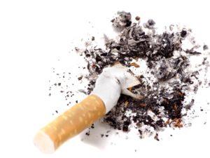 zerdrückte Zigarette
