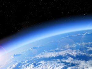 Blick auf die Erde - Atmosphäre