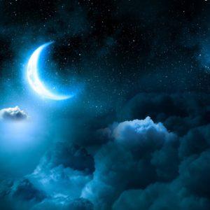 Nachthimmel mit Mond mit Gute Nacht Duftmischung (ätherisches Öl)