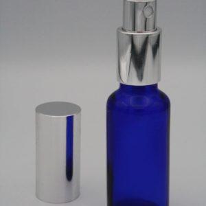 Blauglasflasche 30ml mit Zerstäuberpumpe