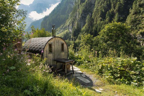 Wie eine Bergsauna wirkt Sauna Duftmischung (ätherisches Öl)