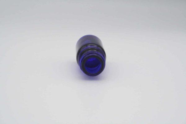 Blauglasflasche 5ml liegend Oberseite