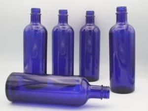 Blauglasflasche 200ml 5 Stück