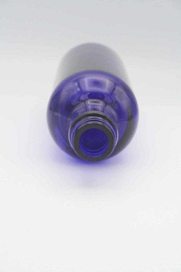 Blauglasflasche 200ml liegend
