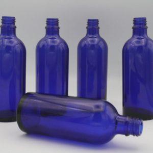 Blauglasflasche 100ml 5 Stück