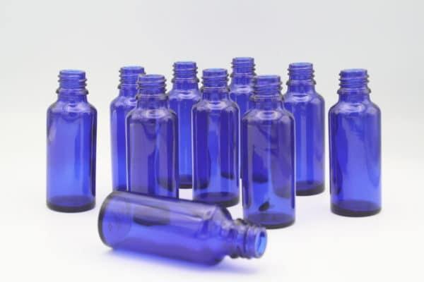 Blauglasflasche 30ml 10 Stück