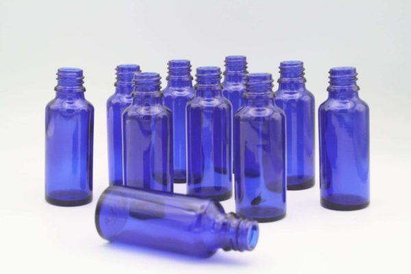 Blauglasflasche 30ml (DN18)
